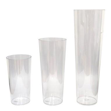 vase transparent en plastique tecarflor galacticblum france. Black Bedroom Furniture Sets. Home Design Ideas