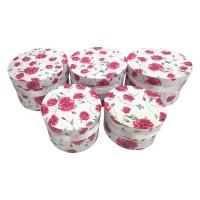 Boîte Decorative Fleurs-Papillons (5 pieces)