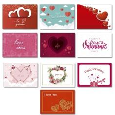 Tarjetas Simple Surtidas 3 San Valentín